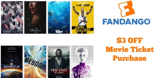 Fandango: $3 Off Movie Ticket Purchase
