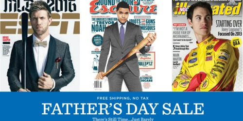 Father's Day Magazine Sale (Save On ESPN, Esquire, Nascar Illustrated & More)