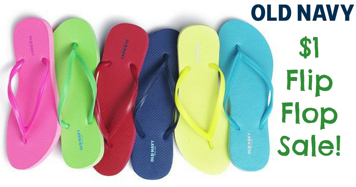 0ffb0695992e0b Old Navy  1 Flip Flops Sale (June 25th) - Hip2Save
