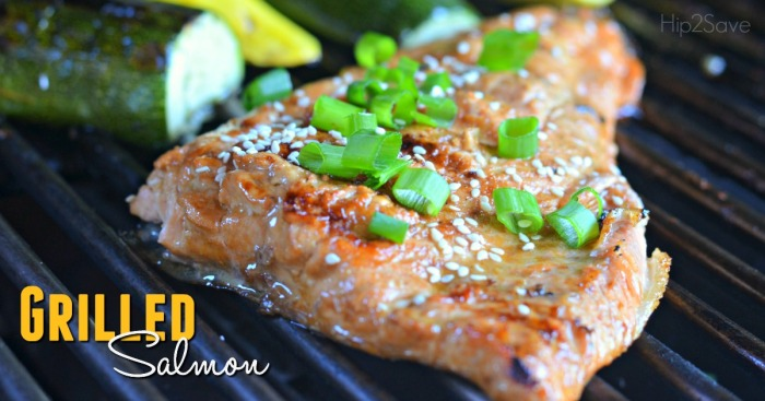 Grilled Salmon Marinade Hip2Save.com
