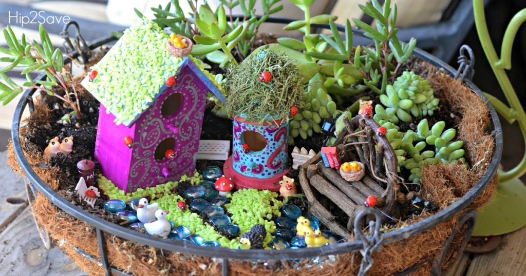 How to Make a Fairy Garden Hip2Save.com