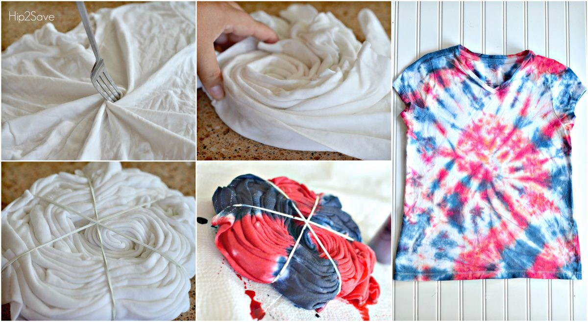 How to Tie Dye Swirl Design by Hip2Save.com