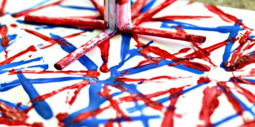 Make Firework Art With Your Kids for the 4th of July!