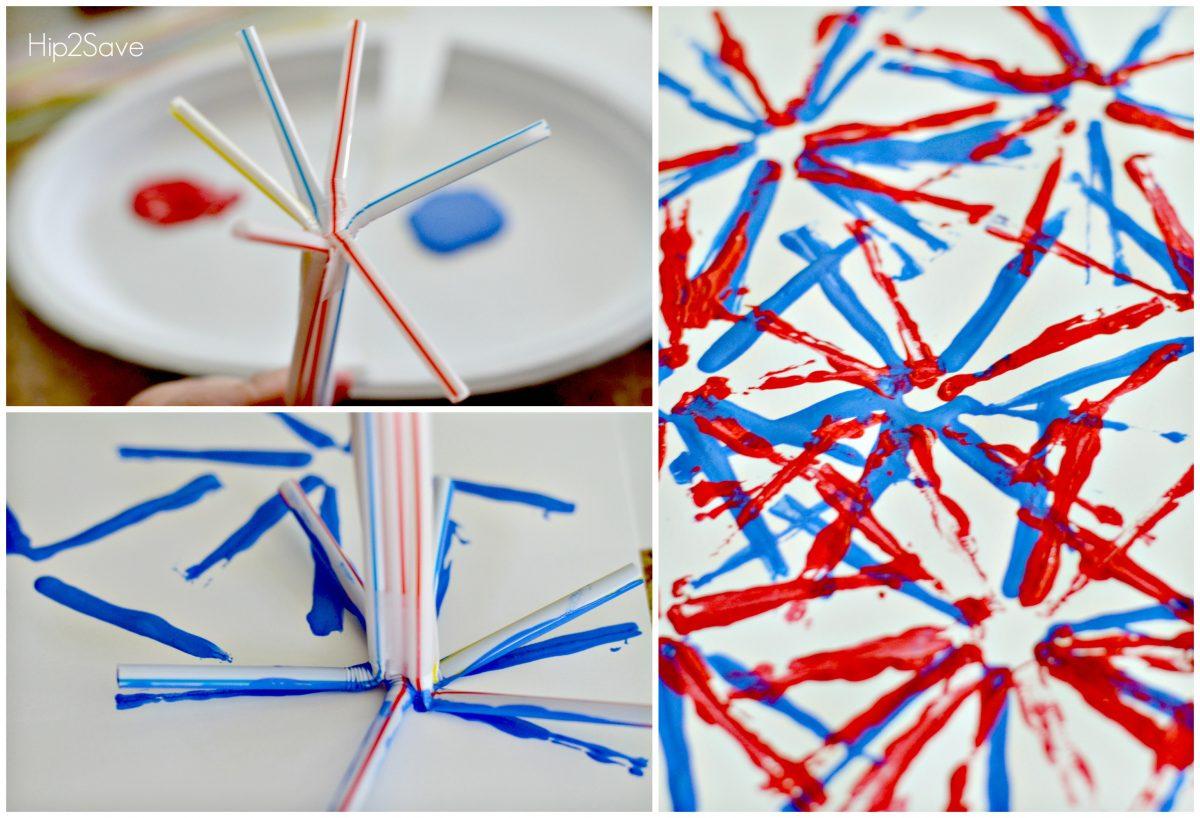 Make fireworks using Straws Hip2Save.com