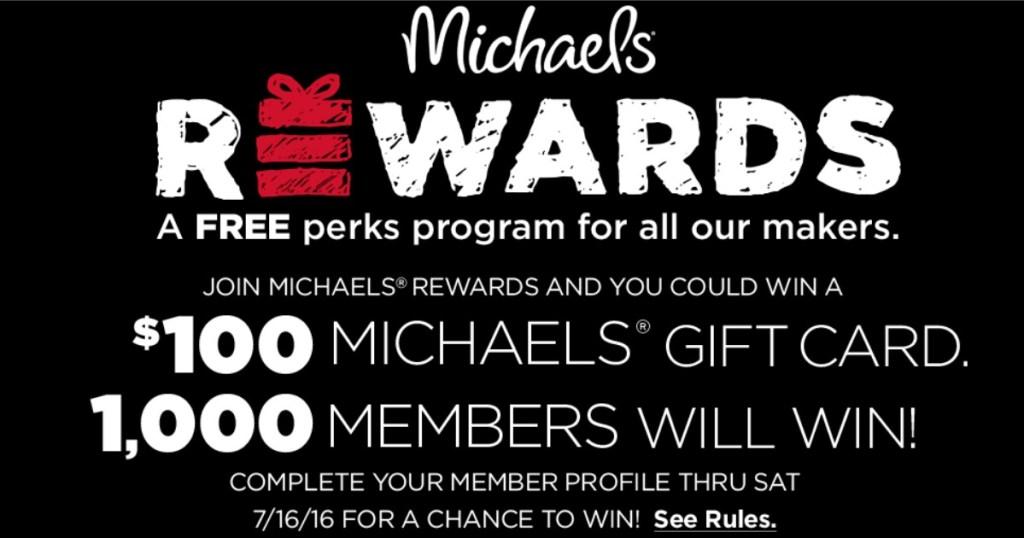 Michaels Rewards Sign Up Win