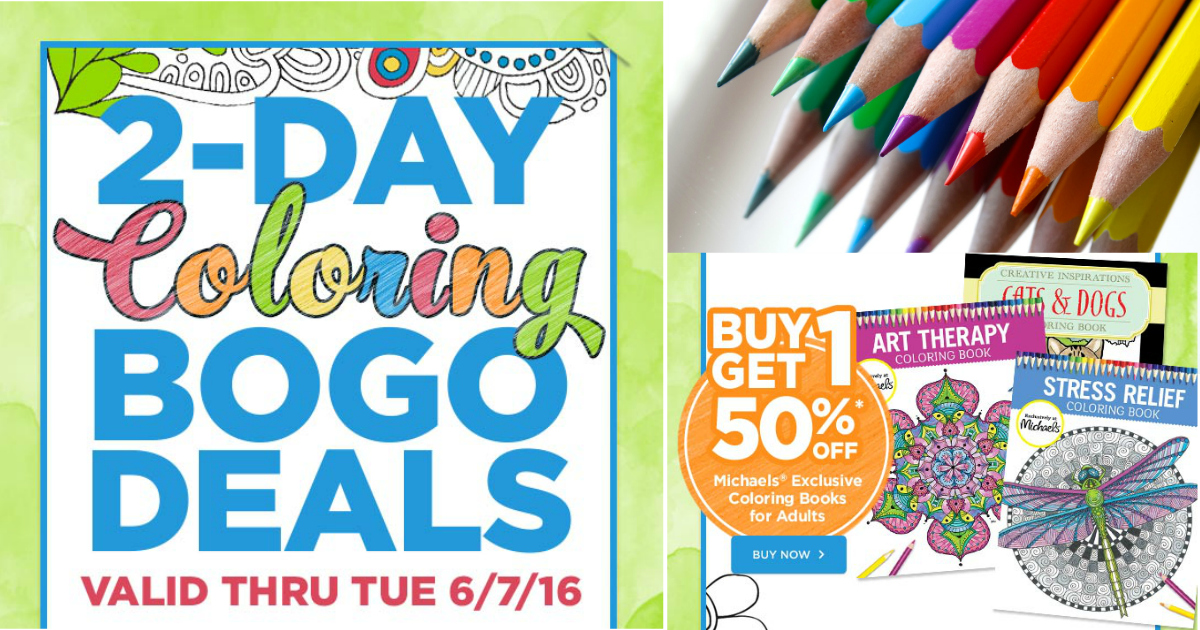 Michaels: Buy One Get One 50% Off Adult Coloring Books (2 Days Only ...
