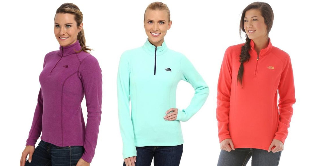 e12db5884 North Face Women's Glacier 1/4 Zip Pullover Only $30 Shipped ...