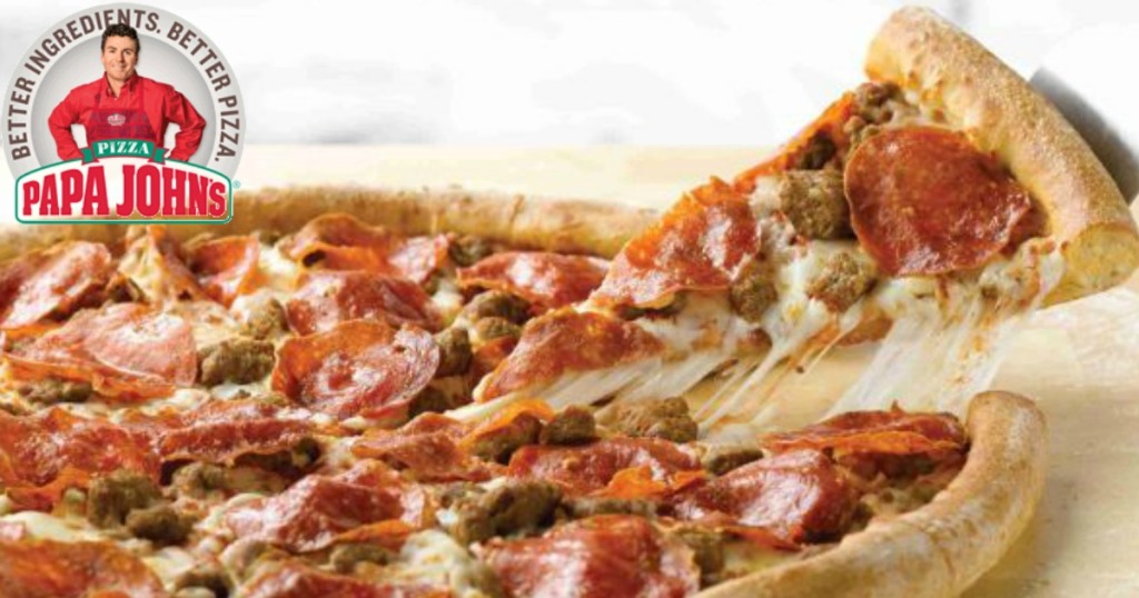 Papa John S 50 Off Any Large Or Extra Large Pizza At