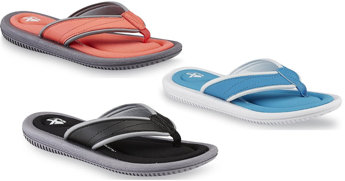 a4db9aff2c7dd Kmart: Sandals Buy 1 Get 1 for $1 = Women's Memory Foam Sandals Only ...