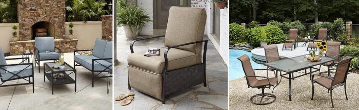 kmart com  40  off patio furniture   4 piece wicker set w   cushions only  299  reg   599