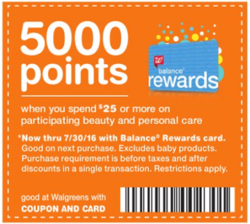 5000 Points Offer on $25+
