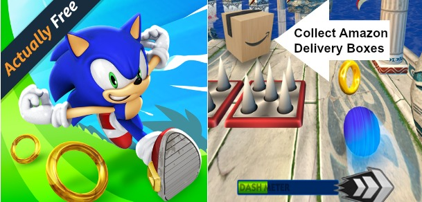 FREE $10 Amazon Gift Card With FREE Sonic Dash Game Download