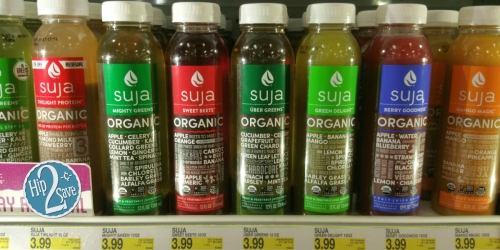 Target Cartwheel: 40% Off Suja Organic Cold Pressed Juices = Only $1.90 Each (After Ibotta)