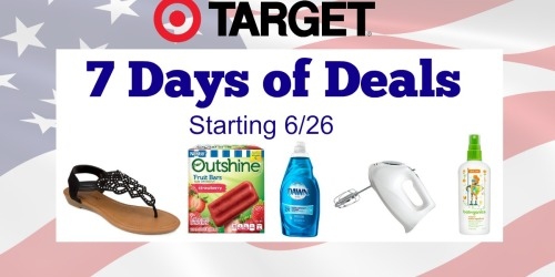Target: 7 Days Of Deals with Unique Mobile Coupons Daily (Starting 6/26)