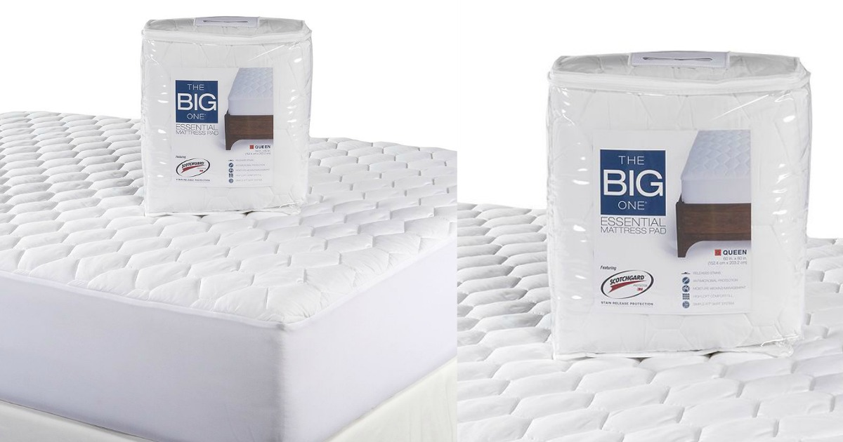 the big one mattress pad Kohl's: The Big One Essential Queen Mattress Pad Only $10.19  the big one mattress pad