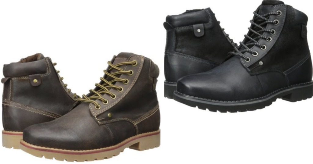 5b2f79837deb9 Amazon: Steve Madden Men's Leather Boots As Low As $18.76 (Regularly ...