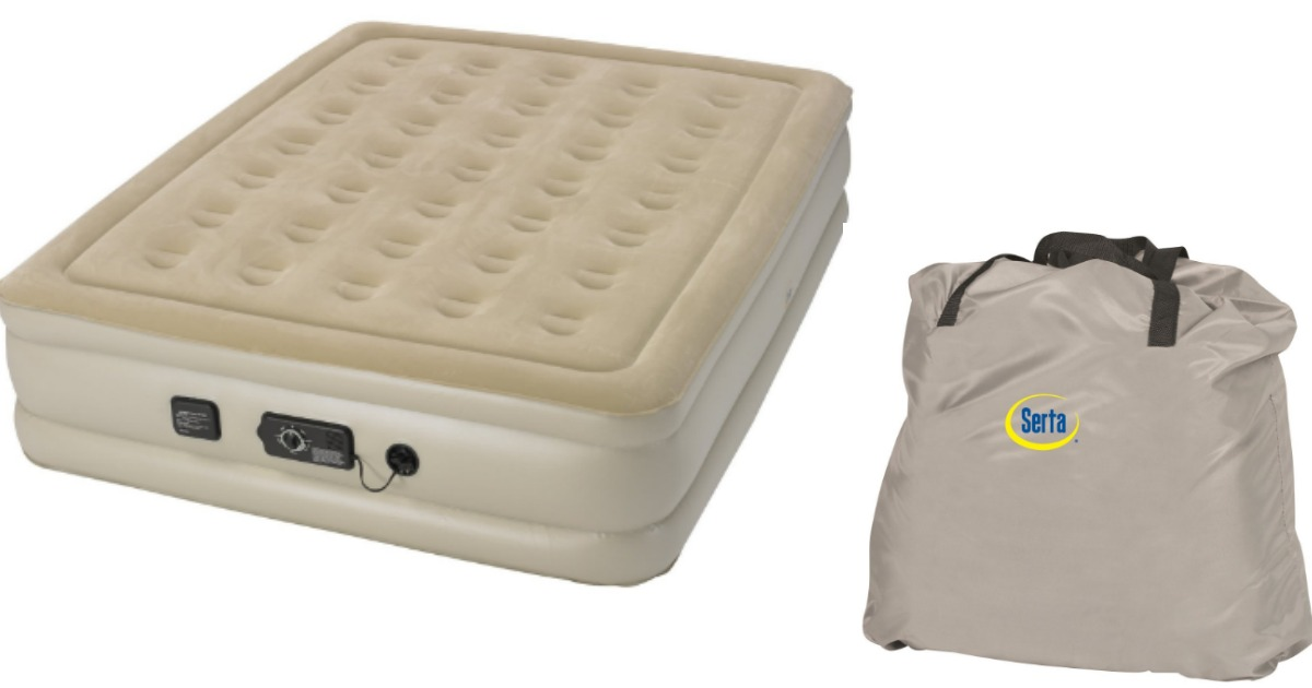 Serta Raised Air Queen Mattress W Never Flat Pump 99 99