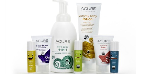 Target Cartwheel: 50% Off Acure Baby Products