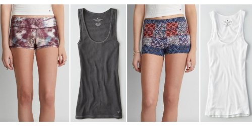 American Eagle Outfitters: Up to 20% Off Clearance Items = TWO Shorties & THREE Tanks Only $25.11 Shipped