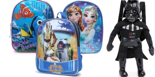 Character Backpacks Only $5 – Star Wars, Frozen, Finding Dory & More!