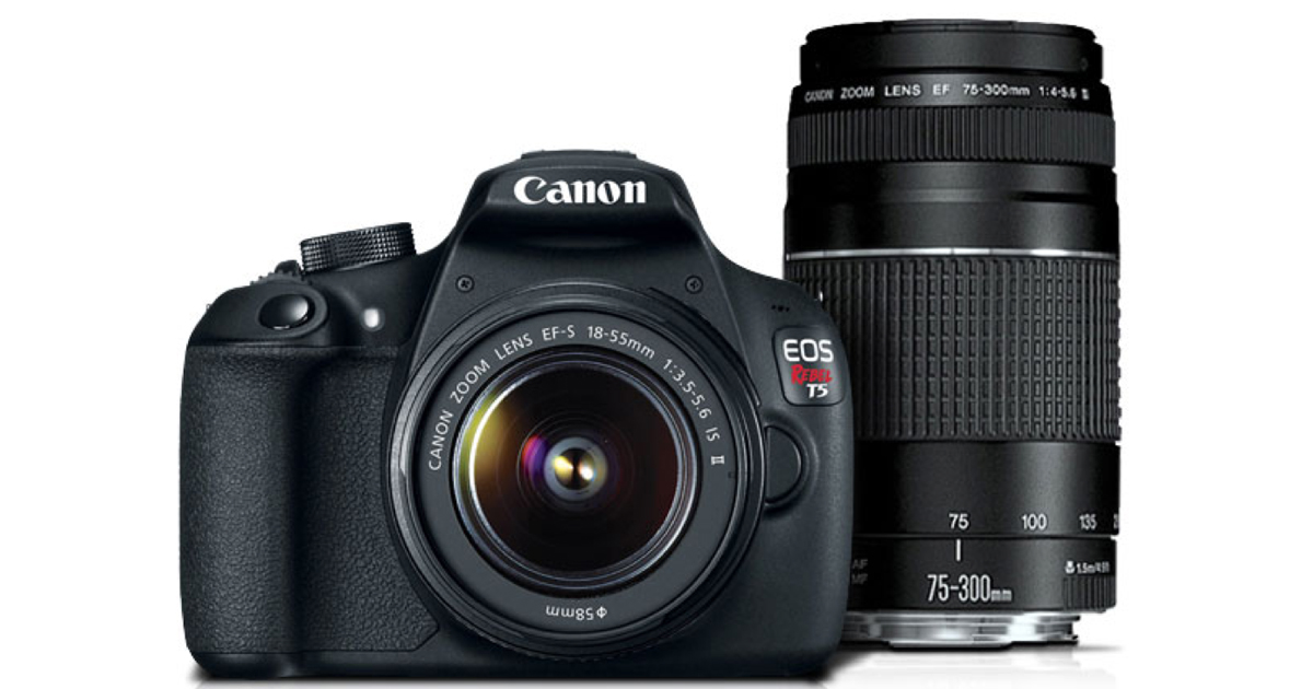 Canon com: Refurbished EOS Rebel T5 Camera Kit Only $229 99 Shipped