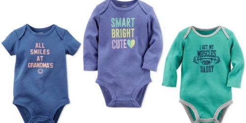 Macy's: Extra 20% Off Sale & Clearance Purchase = Carter's Bodysuit Only $3.19 (Reg. $12) & More