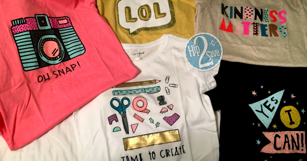 9ac41aa4cfc88 Target: Kids' Cat & Jack Graphic Tees Just $4 Each - Hip2Save