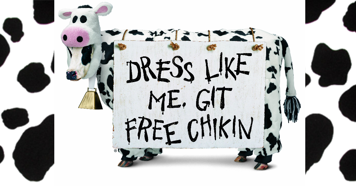 picture about Chick Fil a Cow Printable Costume identified as Chick-fil-A Cow Appreciation Working day: Cost-free Entree for Buyers