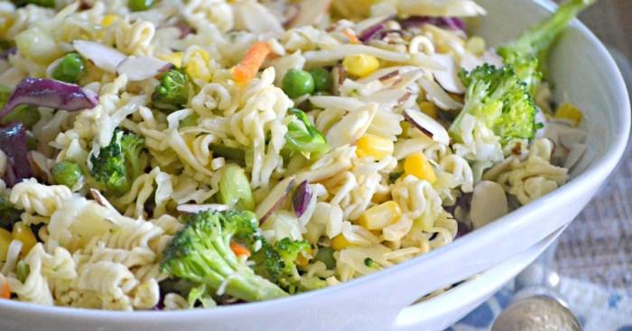 Dump and Done Ramen Noodle Salad