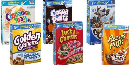 Walgreens: Select General Mills Cereals Only $1.49 Per Box