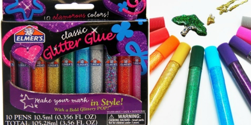 Elmer's Washable Classic Glitter Glue Pens 10 Pack Only $3.55 (Fun for School Projects & More)
