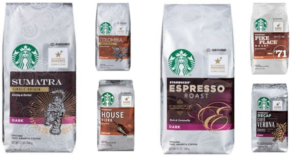 HOT Starbucks Ground Coffee Bags Only Each