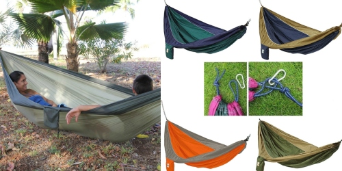 Ultra Light Parachute Hammock with Built In Travel Bag Only $8.99 Shipped (Regularly $39.99)