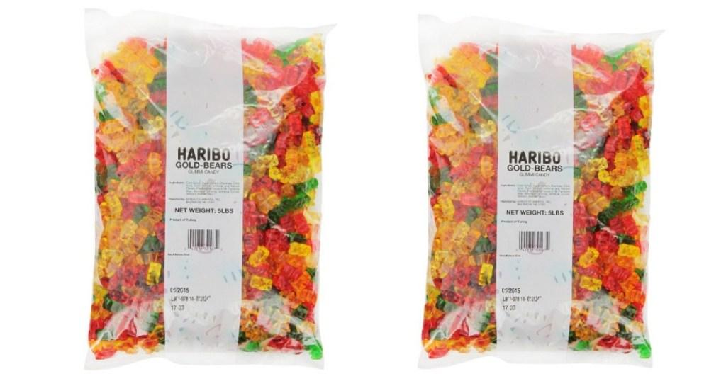 Haribo gummy bear bags