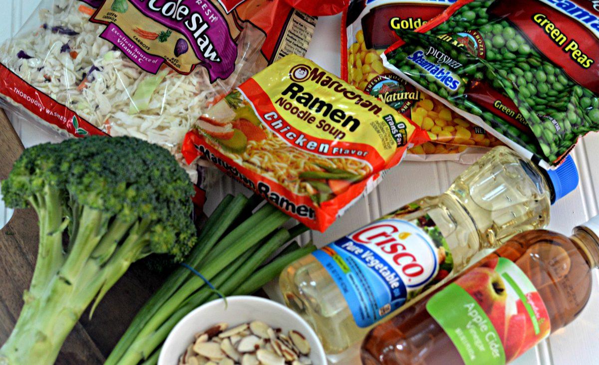 Ingredients for Ramen Salad Hip2Save