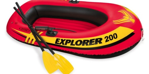 Amazon: Intex Explorer 2-Person Inflatable Boat With Oars & Air Pump Just $16.44 (Best Price)