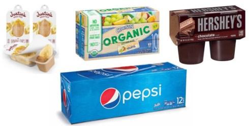 Justin's, Capri Sun, Hershey's and Pepsi