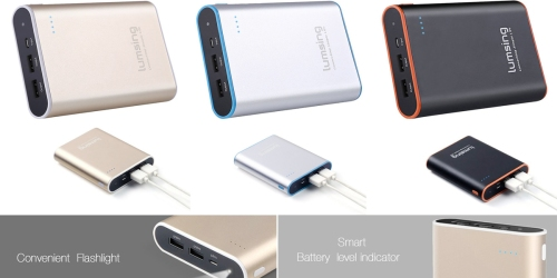 Amazon: Lumsing Dual Port Power Bank ONLY $14 (Regularly $34.99+)