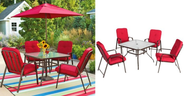 Walmart Mainstays 5 Piece Patio Dining Set Only 149