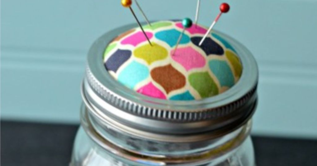 mason jar tip - pins and sewing