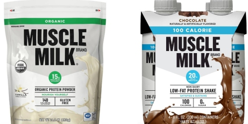 Target: Muscle Milk Organic Protein Powder & 4-Pack 100 Calorie Shakes $16.88 After Gift Card