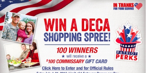 Military: July Commissary Savings (+ 100 Win $100 Commissary Gift Cards)