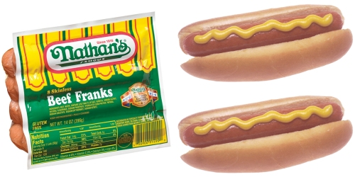 Target: 50% Off Nathan's Famous Hot Dogs