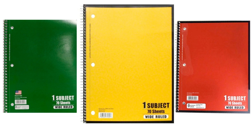 Walmart Wide Ruled 70 Sheet Notebooks Only 17 Hip2save