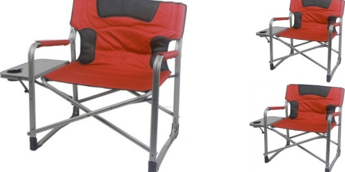 Walmart: Ozark XXL Director Chair ONLY $39 (Features Foldable Side Table w/ Cup Holder)