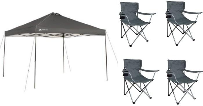 Walmart Ozark Trail 10 X10 Instant Canopy And 4 Ozark
