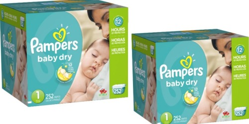 Amazon: Pampers Baby Dry Diapers 252-Count Only $32.79 Shipped (13¢ Per Diaper!)