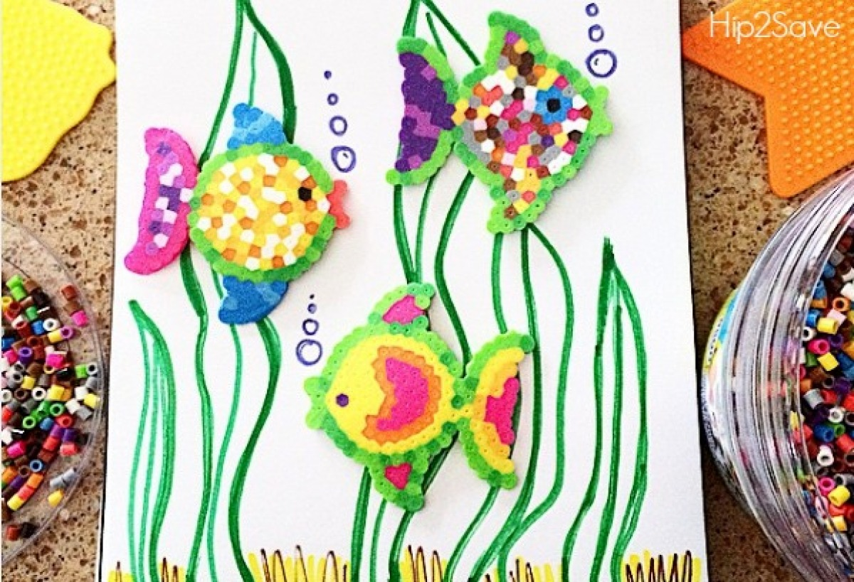 perler beads summer activity