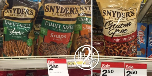 New $1/2 Snyder's of Hanover Pretzels Coupon + Nice Deal on BIG Bags at Target
