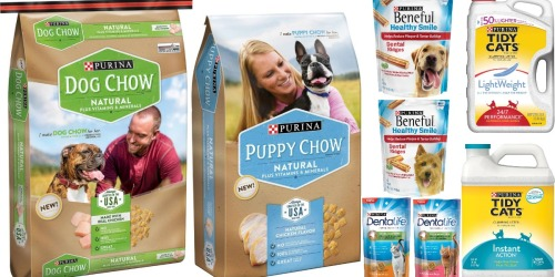 FIVE New Purina Pet Care Coupons (Save On Dog Chow, Dental Treats & Tidy Cats)